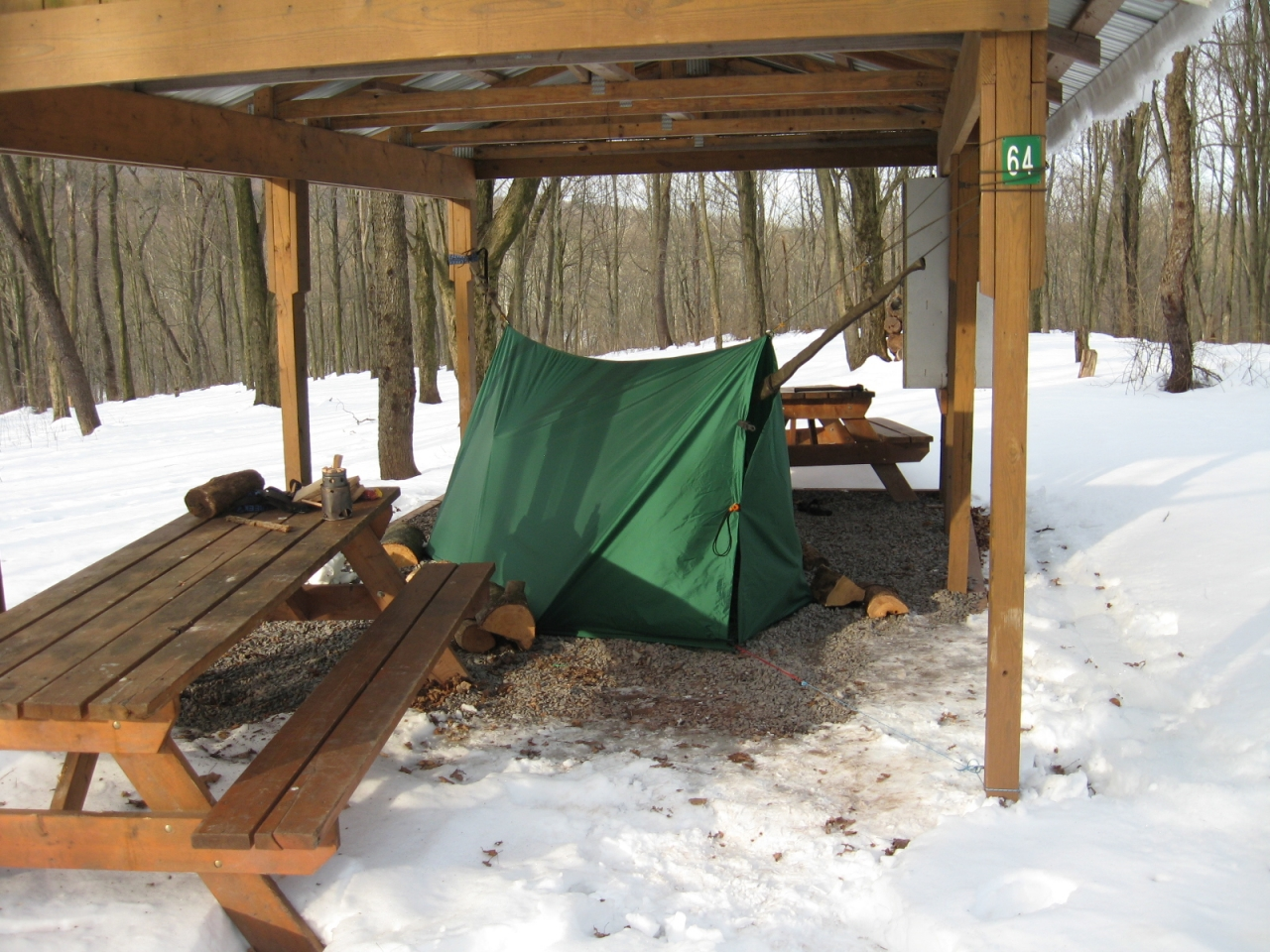 Campmor 10 X 12 Tarp In Winter Mode