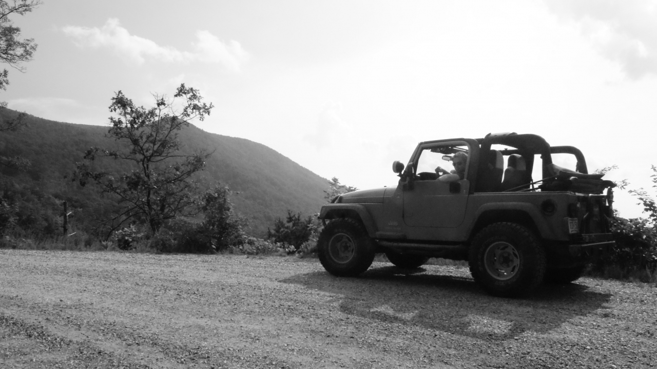 Me In The Jeep On A Forest Service Road Off Of The Blue Ridge Parkway.