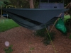 This is how I sleep at night, so the pack hammock wont pull on the tieouts by specialscott97 in Hammocks