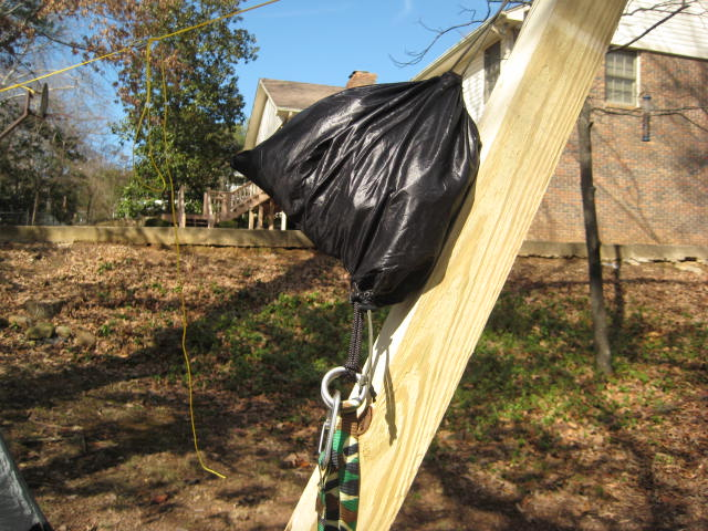 """Bishop Bag"" with hanging stuff outside"