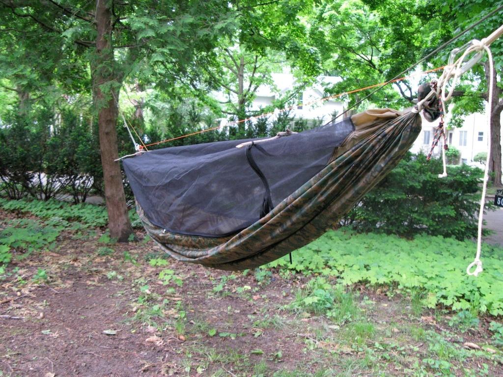 i made my very own claytor inspired hammock  see below  grizz joins club claytor  rh   hammockforums