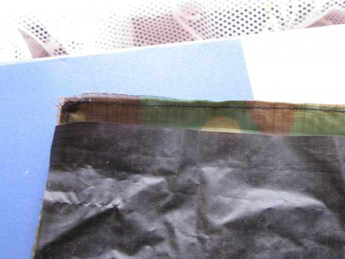 steps in sewing flat-fell hem
