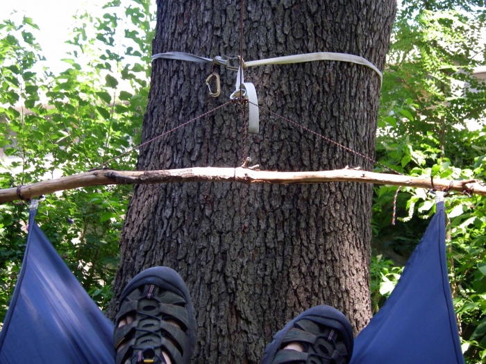 I Have Found You Can Lash Branches Picked Up On The Trail To Hammock Corner Rings Such As
