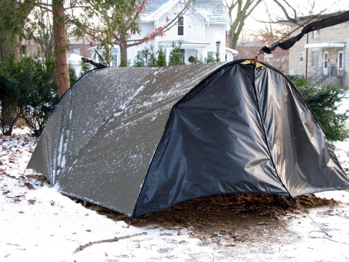 Idea for 4 Season Extreme Weather tarp shelter Mod