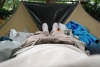 thermarest and SPE in bridge hammock