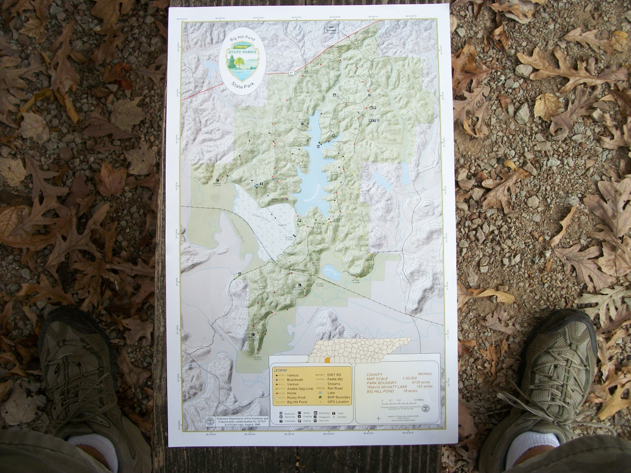 Big Hill Pond State Park-map