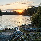 Sunset over Bandit- Spring Algonquin 2018 by Chard in Group Campouts