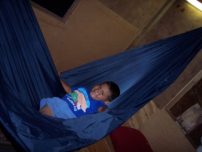 My kids playouse hammock