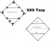 9X9 Tarp