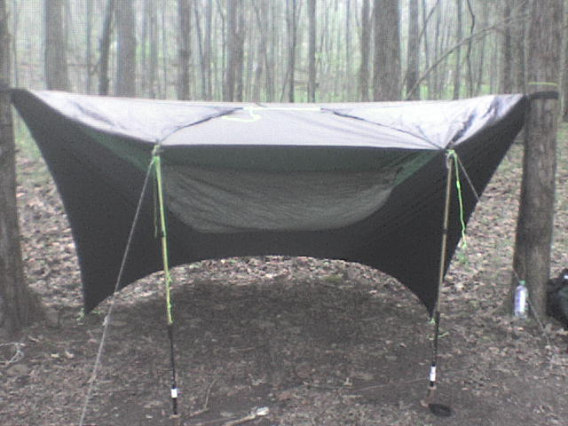My Diy Bugnet Hammock, With My Diy Tarp