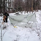 winter camping -26 celsius. st-paulin quebec by bmantheman in Hammock Landscapes