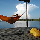 Air-drying after shower by Hammockmadness in Hammock Landscapes