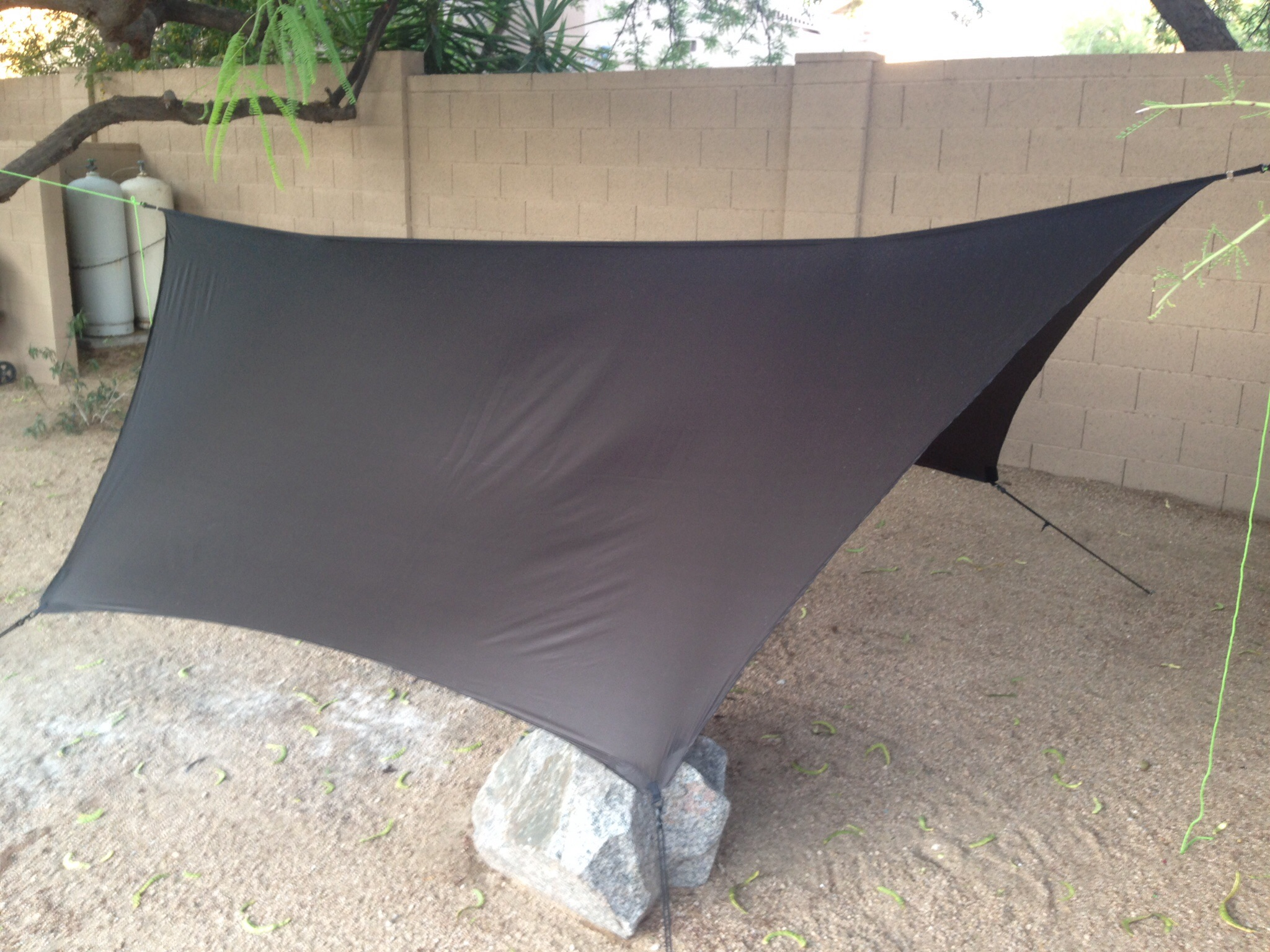 11 foot silnylon hex tarp