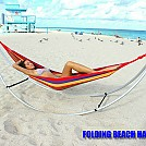 Girl in a Folding Beach Hammock
