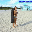Girl carrying bag with Folding Beach Hammock by telebeep in Hammocks