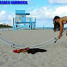 Girl assembling Folding Beach Hammock by telebeep in Hammocks
