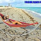 Girl enjoying Folding Beach Hammock by telebeep in Hammocks