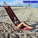 Girl sitting in a Folding Beach Hammock by telebeep in Hammocks
