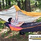 Armchair Hammock w/ modified sleeping bag by Armchair Guy in Hammocks