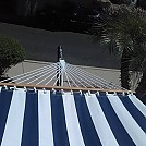 Blue n white Stripe hammock with Stand by Slackjacks in Hammocks