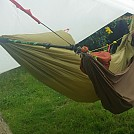 double hang with walking pole and loop aliens by GadgetUK437 in Hammocks