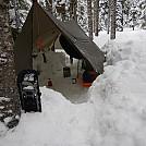 Winter hole by Benson Burner in Tarps