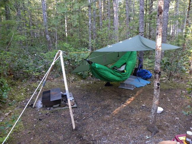 the first night there was a little draft on top without an overcover  there was a foil space blanket in between the hammock and peapod  4 nights with the byer madera leg in the north cascades wa  rh   hammockforums