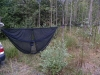 Eno Guardian W/ Doublenest And Improvised Rigging Of Bike Rack Strap & Dog Leash by hikingjer in Hammocks