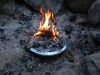 Twiggy Fire On Banks Fry-bake Pan by hikingjer in Hammocks