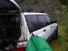Other Side Hung To The Canoe Rack On The Subaru Forester