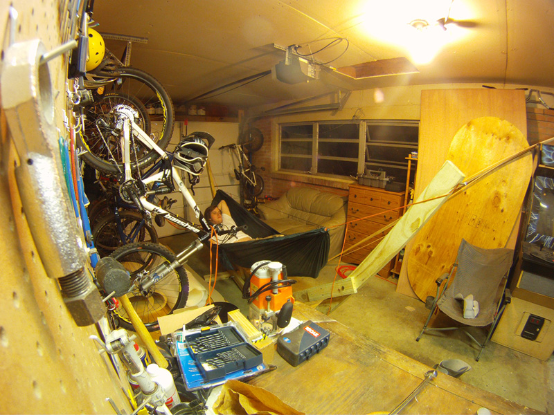 Stand In Garage