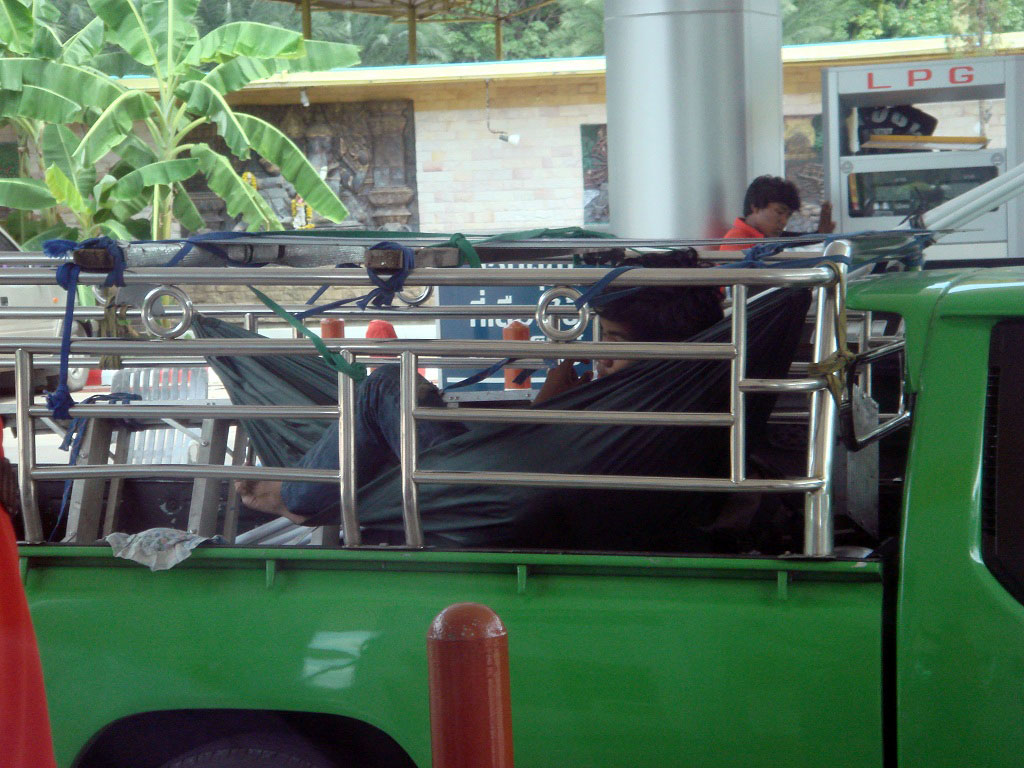 Hammock In A Ute In Thailand