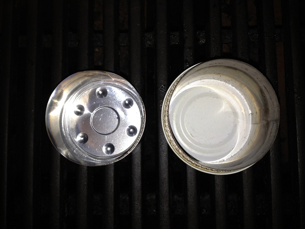 Mini Vs Standard Fancee Feast Stove - Top Shot