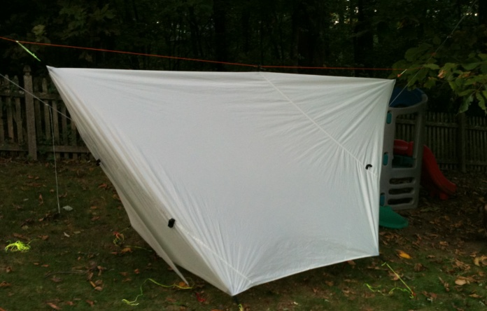 Guide Gear Tarp As Winter Shelter