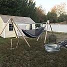 Backyard hammock with TDog stand