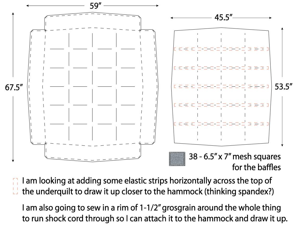 Hammock Underquilt Pattern Underquilt Pattern