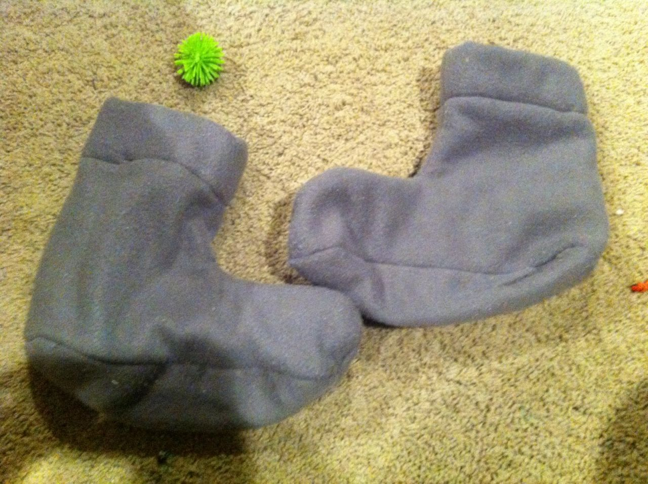Diy Fleece Booties