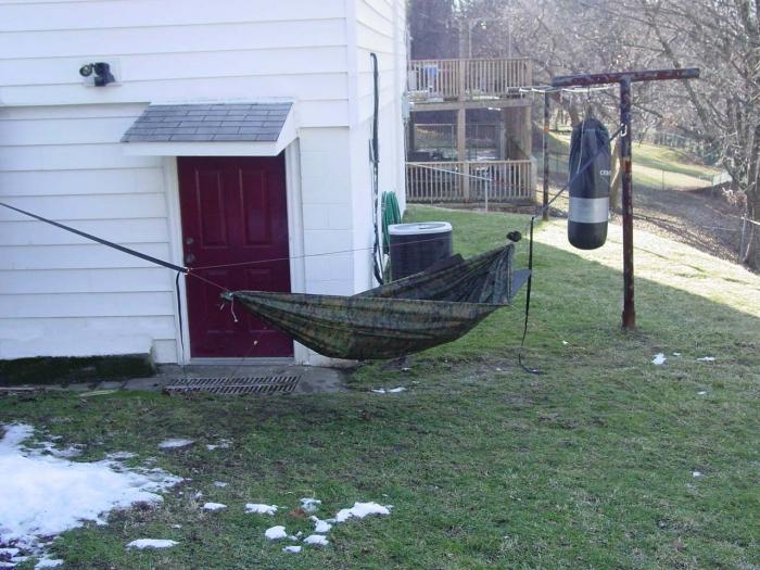 Happy Camper's first DIY hammock