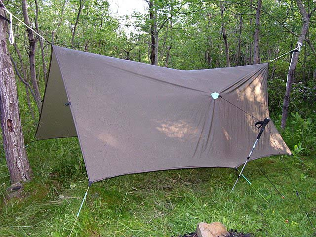Tarp, Grip Clips, And Hiking Poles