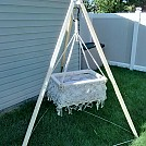 Hanging Cradle by Rock-a-bye Cradle in Images for homemade gear forums directions