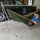 Me in My New Portable Hammock Stand by QDman in Homemade gear