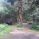 Cliffside campsite