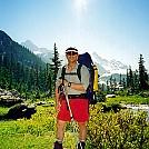 Shuksan approach using trekking poles