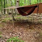 Porch mode tarp with sticks