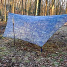 Camo DCF tarp side panel pullouts