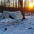 Winter hang Harriman sunset
