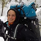 Snow backpacking