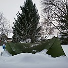 Jan 19, 2019 Backyard Snow Hang by cmc4free in Hammock Landscapes