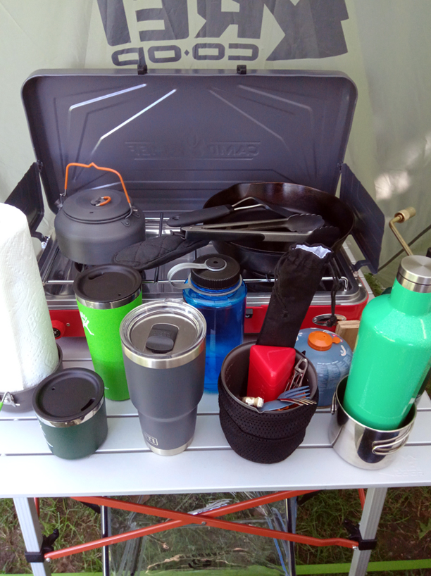 Car camping kitchen