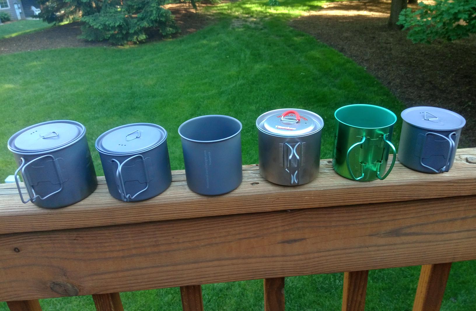 Lots of small Ti pots